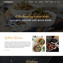 Foodmania - Premium Theme Demo Page